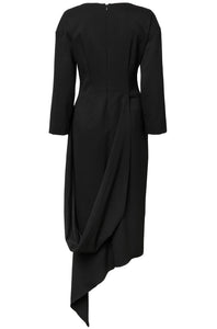 19-4 Sculpted V-neck Organic Wool Dress
