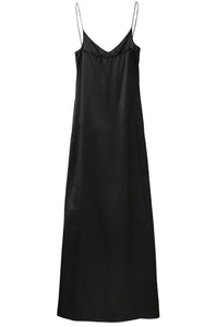 20-4 Black Organic Slip Dress