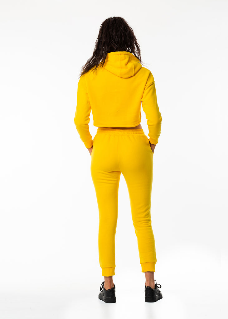 Best women's high waist sweat pants in bright colour
