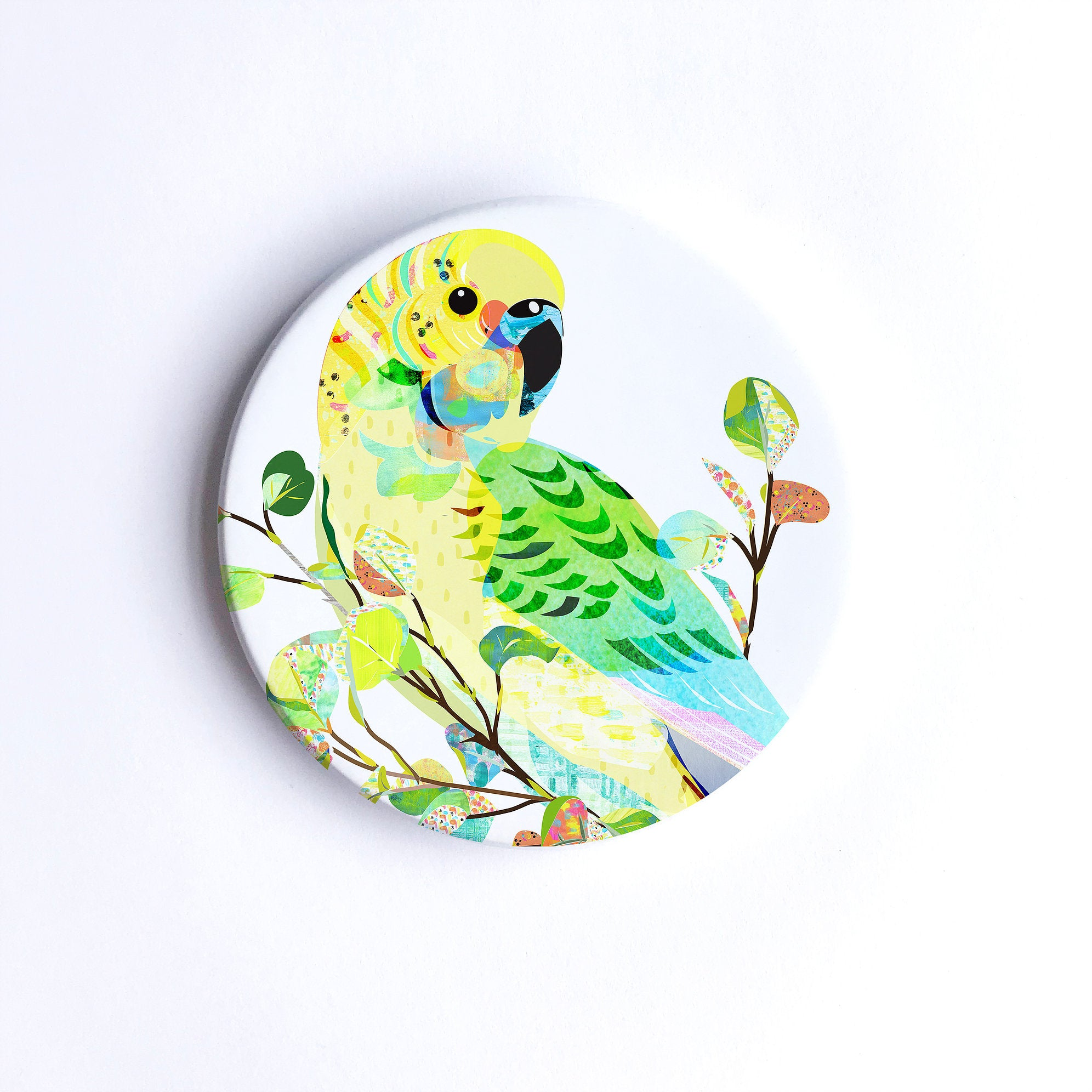 Braw Paper Co Coasters - Budgerigar