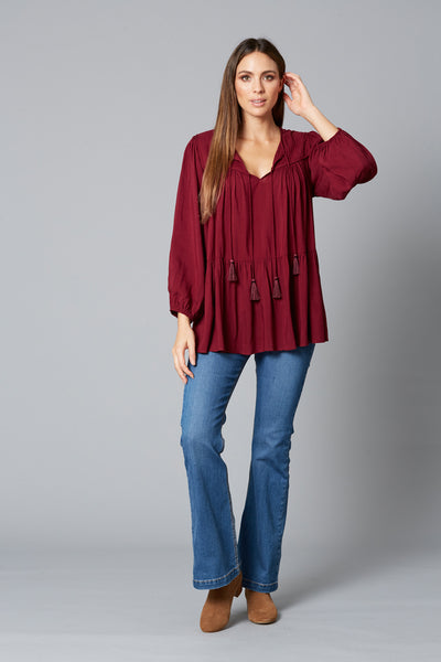 Isle of Mine - Dawn Tassel Top (Plum)