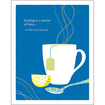 Positively Green Greeting Card - Get Well