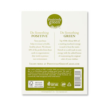 Positively Green Greeting Card - Birthday