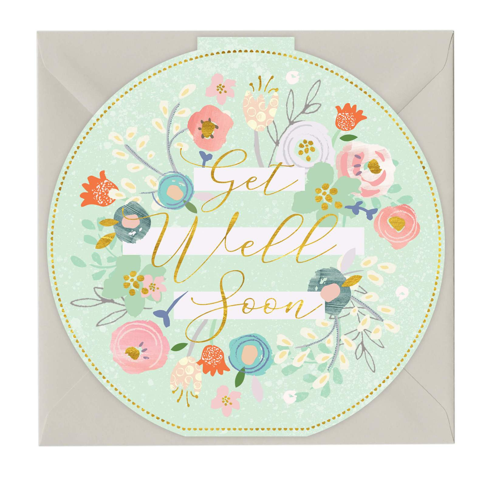 Whistlefish Greeting card - Get Well Soon