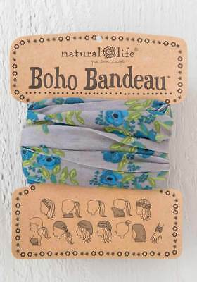 Natural Life - Boho Bandeau (Taupe Blue Blooms)