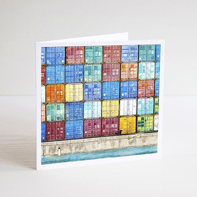 Braw Paper Co Greeting Card - Shipping containers Fremantle