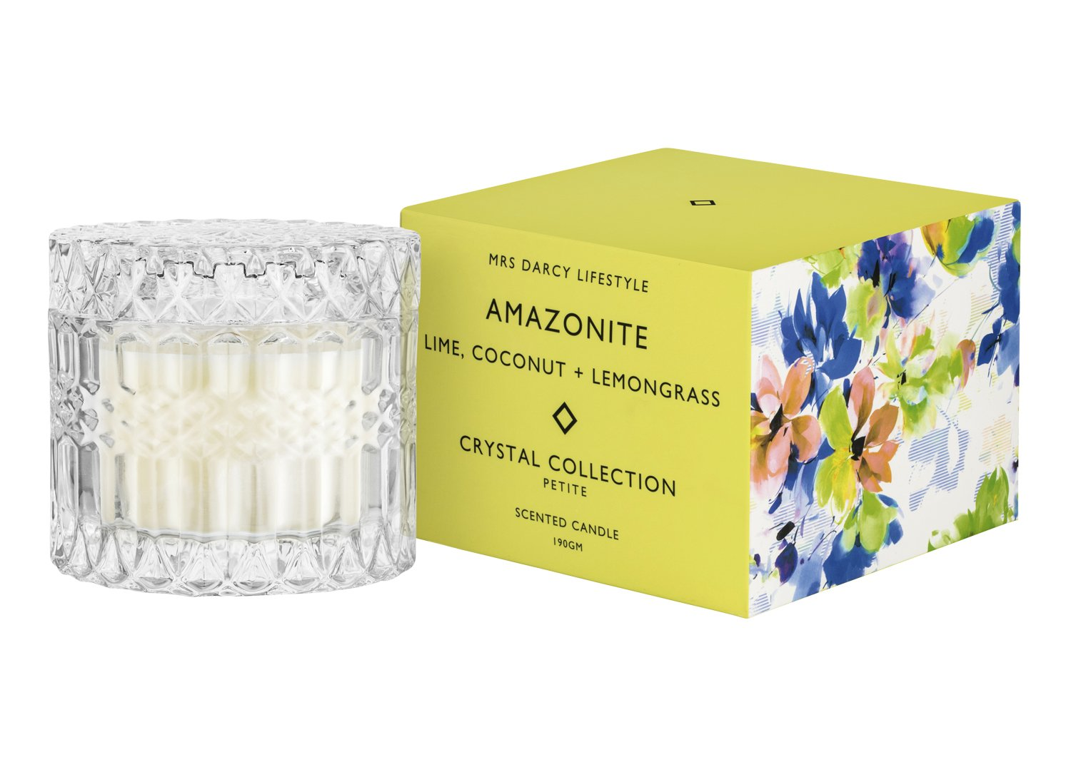 Mrs Darcy Scented Candle Petite - Amozonite (Lime, Coconut and Lemongrass)