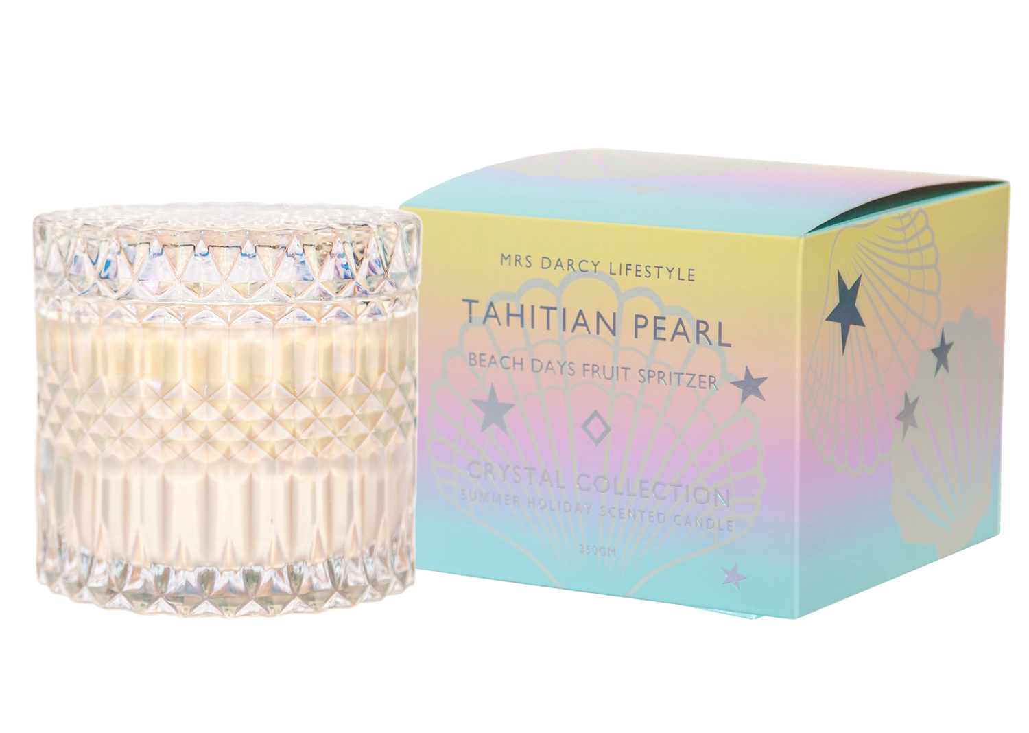 Mrs Darcy Scented Candle - Tahitian Pearl (Beach Days Fruit Spritzer)
