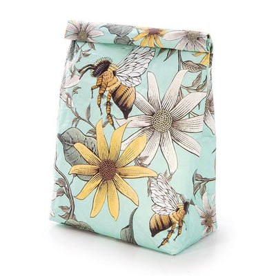 For the Earth Paper Lunch Bag - Bees