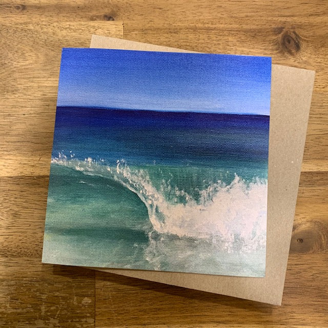 Julie Eaton Greeting Card - Curling Wave