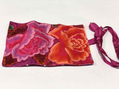 Anna Chandler Design Velvet Jewellery Roll - Mexican Roses