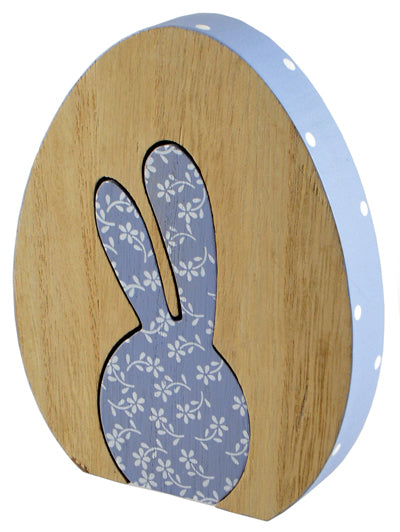Wooden Push out Rabbit/egg Decoration