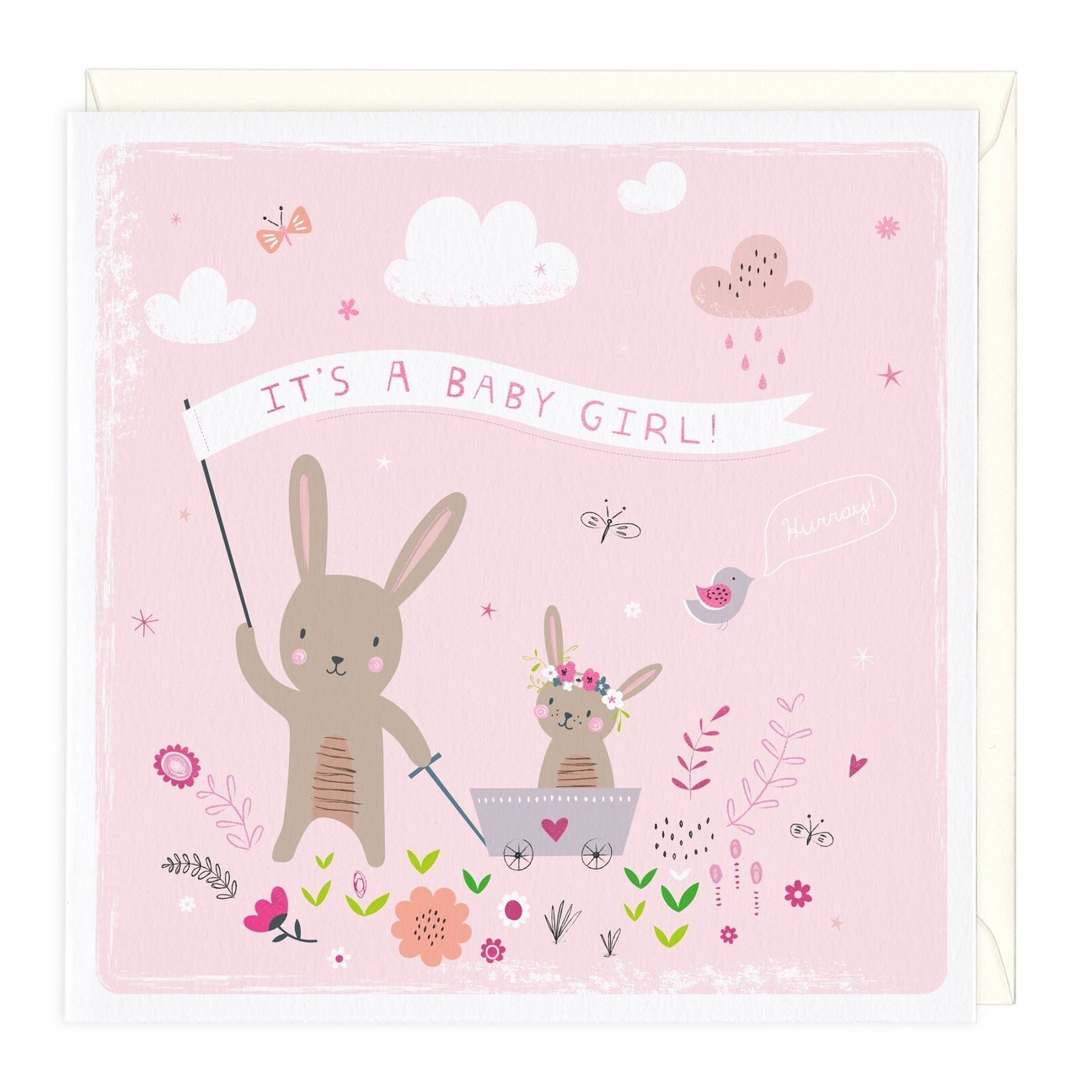 Whistlefish Greeting card - Baby Girl