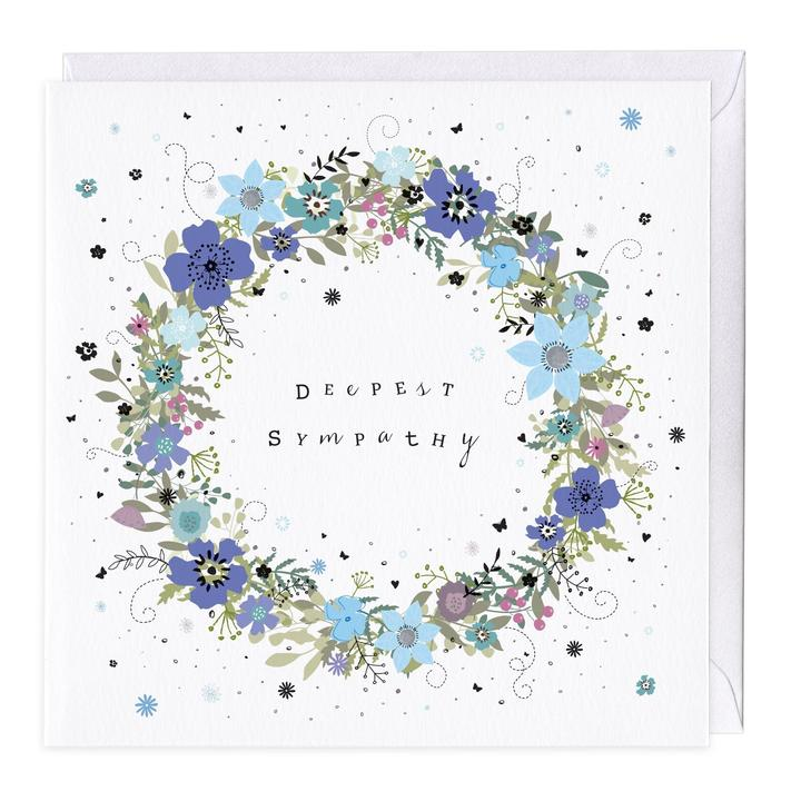 Whistlefish Greeting card - Deepest sympathy