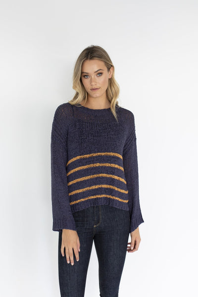 Humidity Lifestyle - Jo Jo Jumper(Navy-Camel)