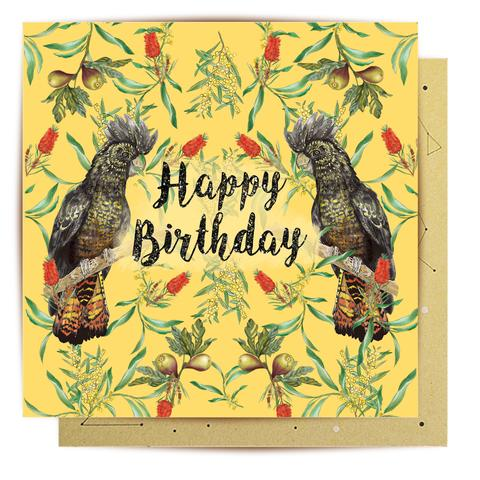 La La Land Greeting Card - Cockatoo Birthday