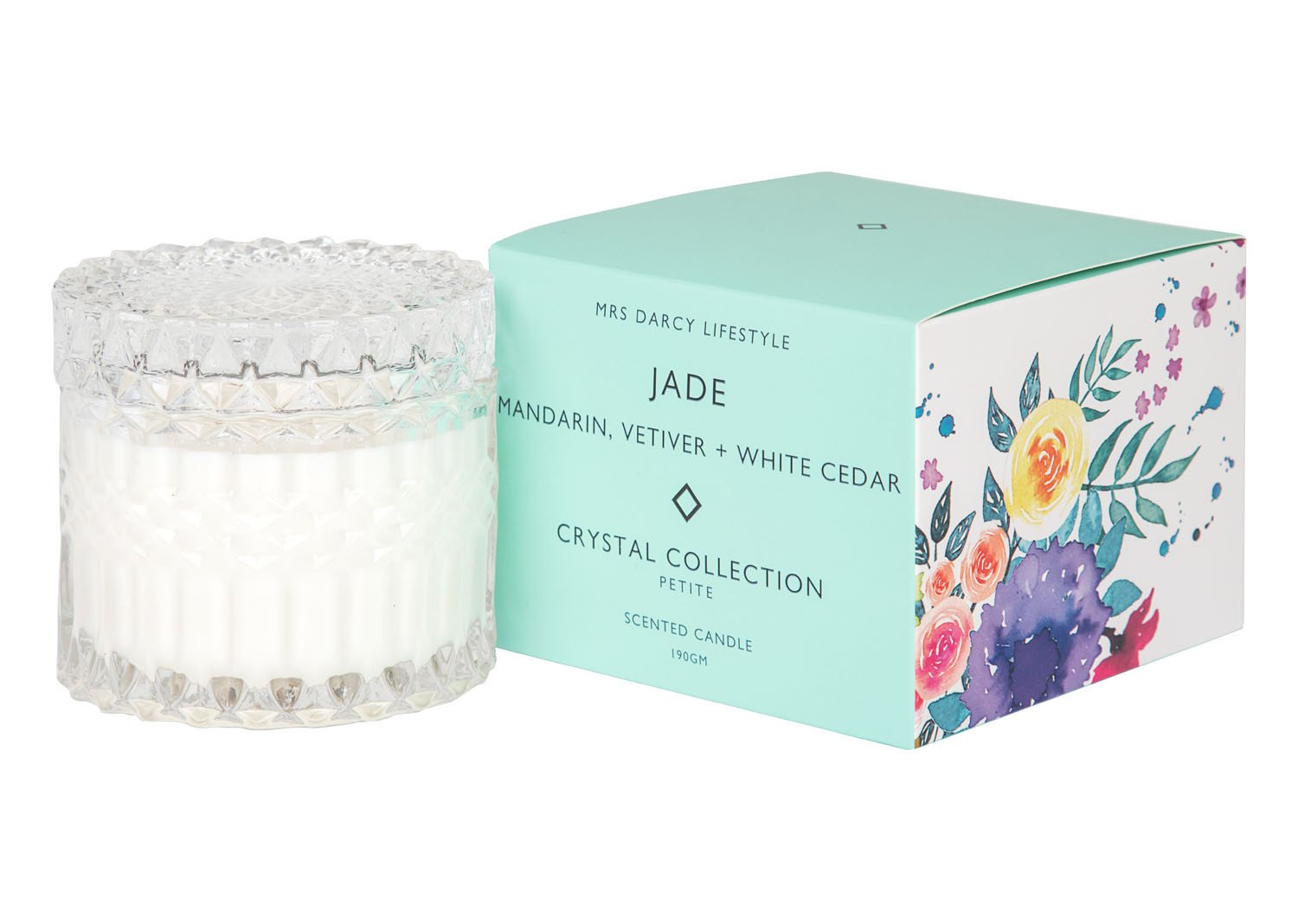 Mrs Darcy Scented Candle Petite - Jade (Mandarin, Vetiver and White Cedar)