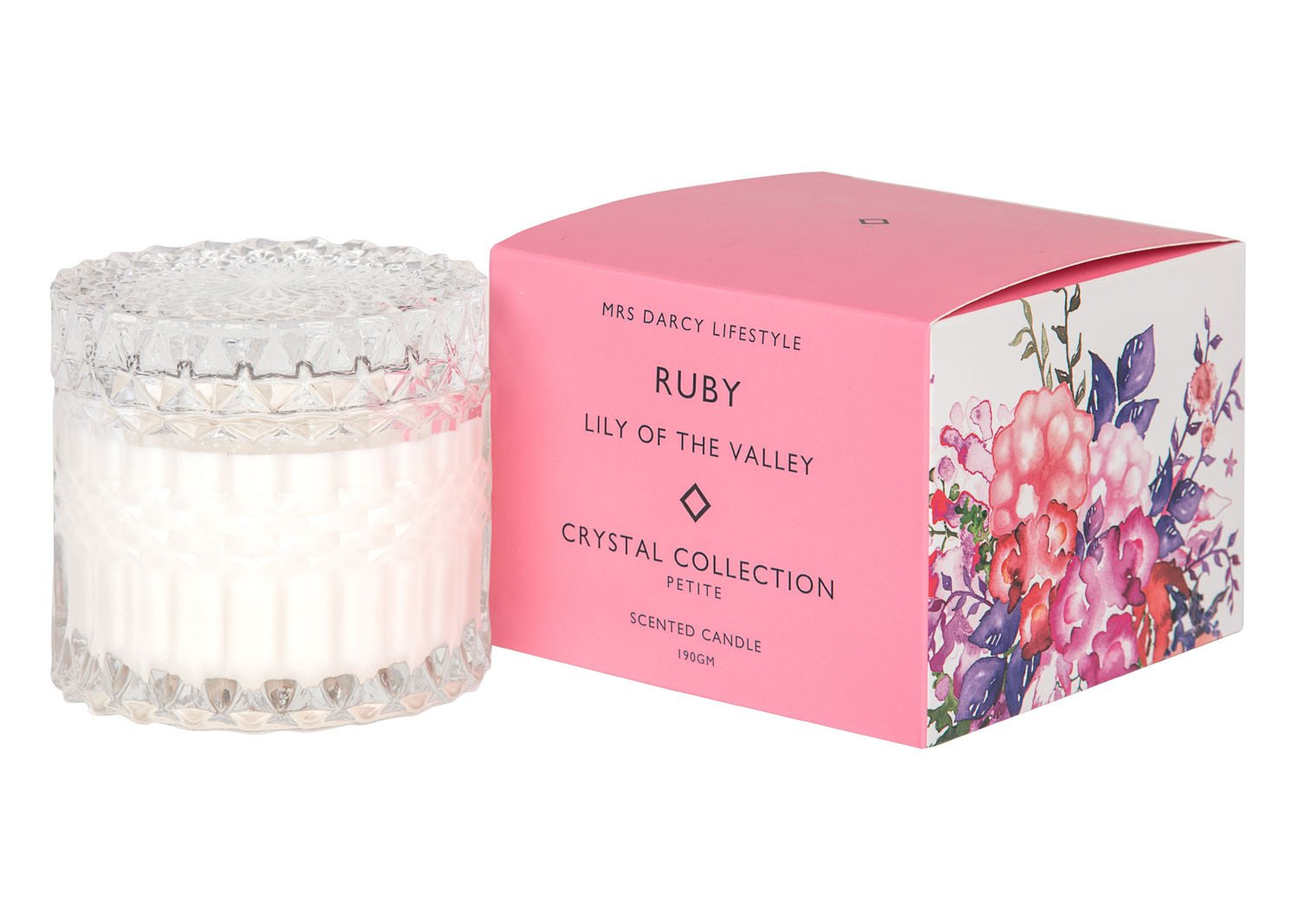 Mrs Darcy Scented Candle Petite - Ruby (Lily of the Valley)