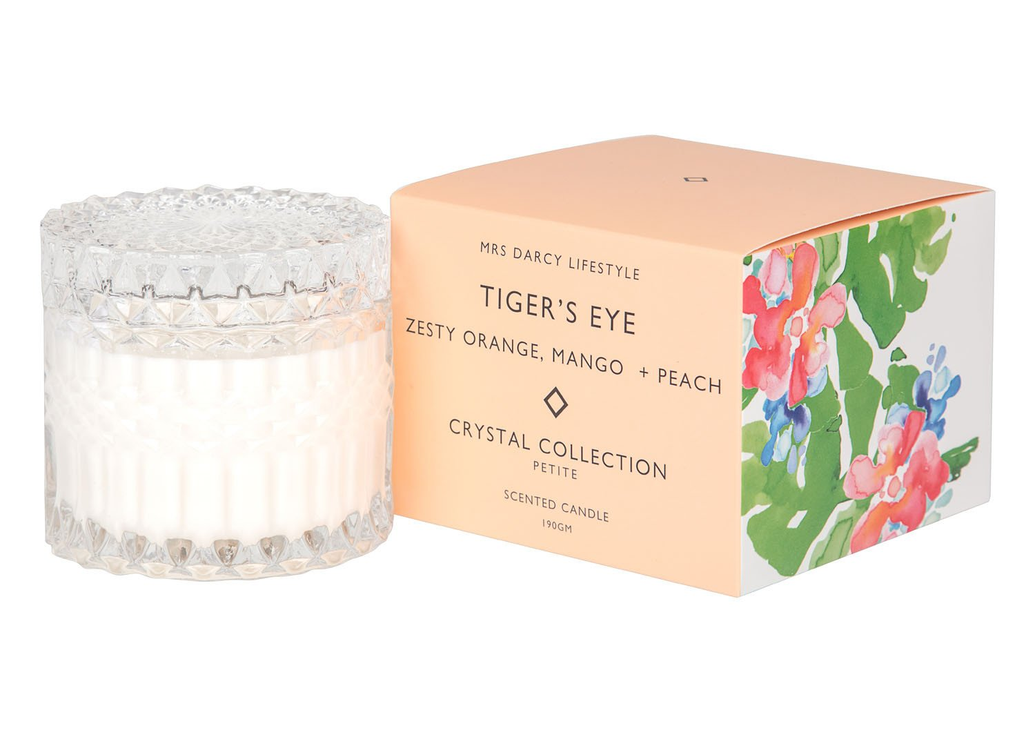 Mrs Darcy Scented Candle Petite - Tigers Eye (Zesty Orange, Mango and Peach)