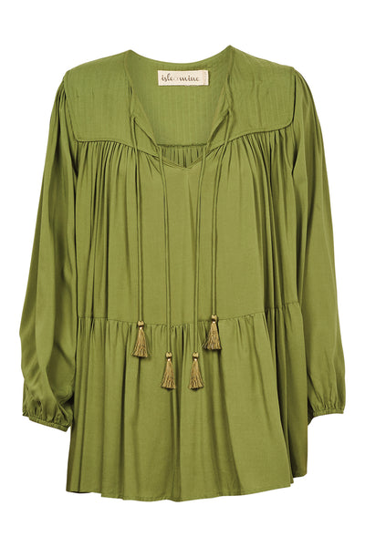 Isle of Mine - Dawn Tassel Top (Forest)