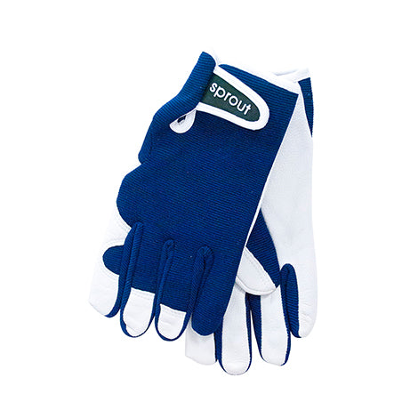 Sprout Goat skin gardening gloves - Navy Blue