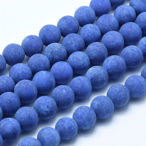 12224 Jade frostad Royal blue. 8 mm. 1 sträng