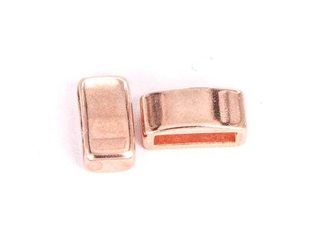 J082 Slider 12x6x4 mm. Rosé. 2 st.