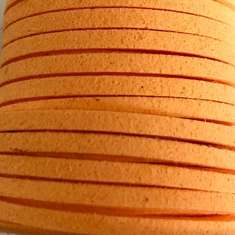 Mockaband 3x1,5 mm. Orange. Ca. 5 m. 1 st.