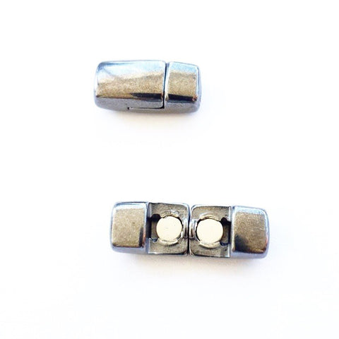 D029 Magnetlås innerdiam 5x2 mm. Gun metal. 1 st.