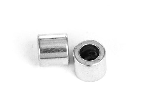 J089 Metalltub 9x8 mm. Antiksilver. 2 st.