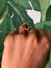 Load image into Gallery viewer, Smokey Quartz Copper Ring Size 5 1/2