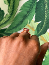 Load image into Gallery viewer, Red Jasper Copper Ring Size 8