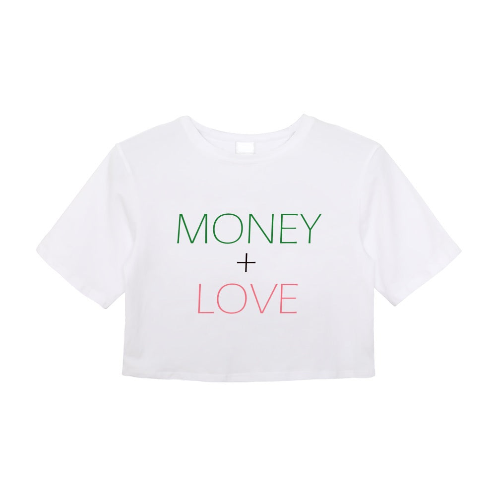 Money + Love Crop Tee
