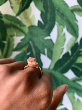 Load image into Gallery viewer, Unakite & Moon Stone  Copper Ring Size 9