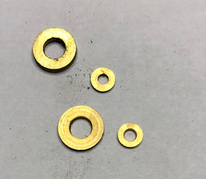 Model Flat Washers (Brass & Steel)