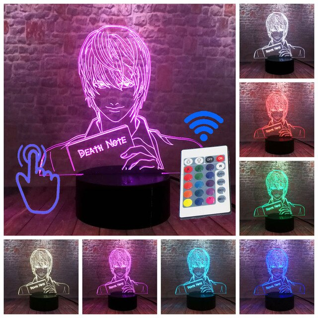Lampe de Chevet Death Note 7 Couleurs de 17 cm