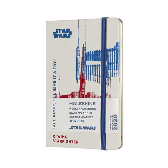 2020 Moleskine 12 Month Planner Limited Edition - Weekly Notebook, Star Wars, X-Wing, Pocket (3.5