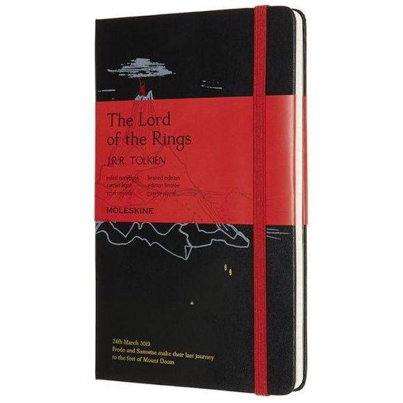 Moleskine Limited Edition Notebook, Lord of the Rings, Mt. Doom, Large with Ruled pages
