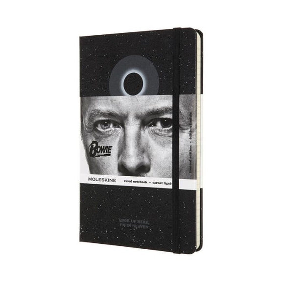 Moleskine Limited Edition Notebook David Bowie, Large, Ruled, Black (5 x 8.25)