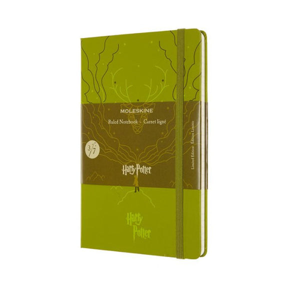 Moleskine Limited Edition Notebook Harry Potter, Large, Ruled, Book 3, Olive Green (5 x 8.25)