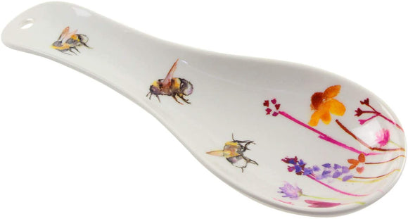 Spoon Rest Pretty Water Colour Busy Bees Design by Jennifer Rose Gallery