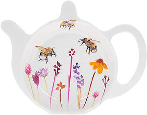 Teabag Tidy Rest for Used Tea Bags Pretty Water Colour Busy Bees Design by Jennifer Rose Gallery