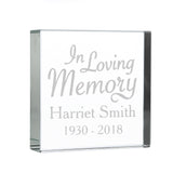 "Personalised ""In Loving Memory"" Large Crystal Token"