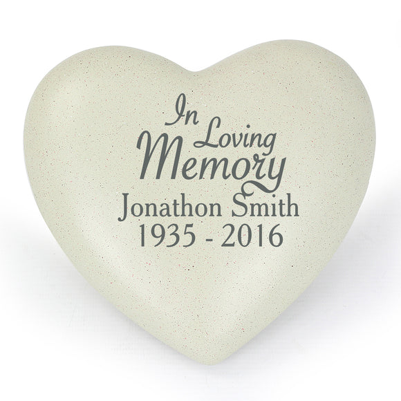 Personalised In Loving Memory Heart Memorial