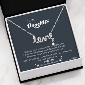 Love You for The Rest of My Life Necklace(Mom to Daughter)