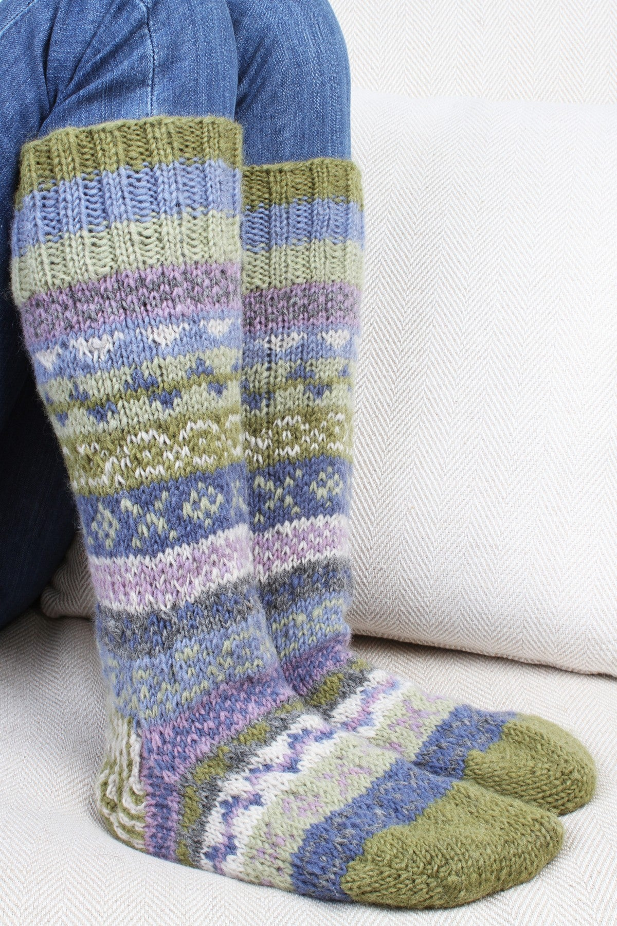 long woolly socks