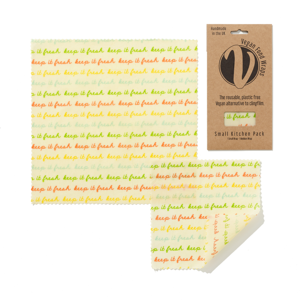 Vegan organic cotton food wraps - small pack