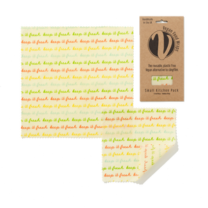 Organic Cotton Food Wraps - vegan small pack