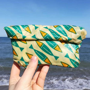 BeeBee Organic Cotton Beeswax Food Wraps - Ocean Family Pack