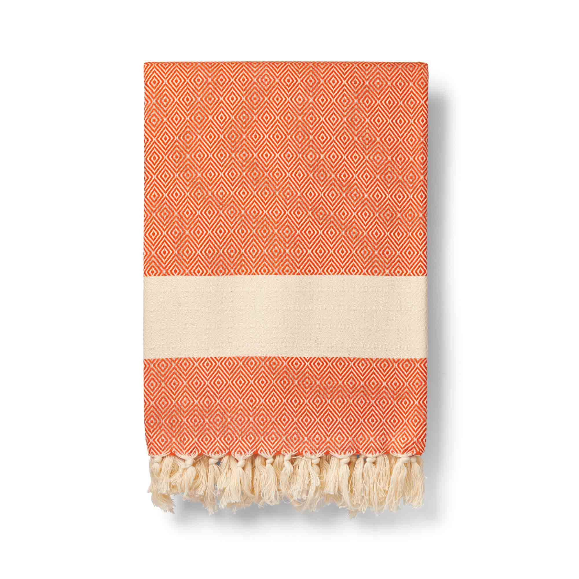 Orange organic cotton blanket